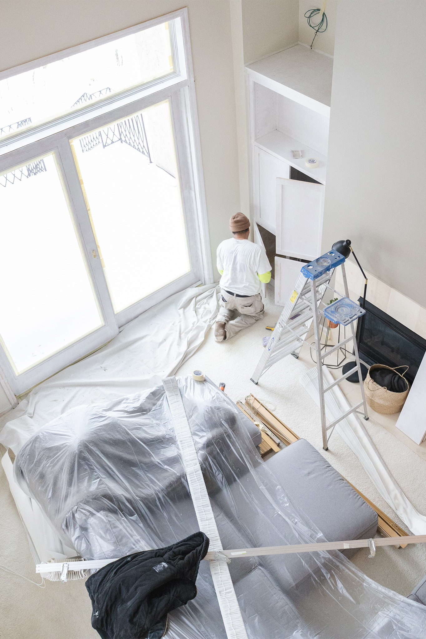 Painters interior painting built in