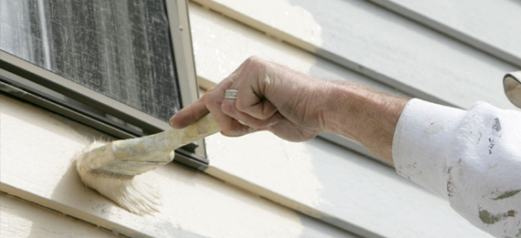 Painting Exterior Siding on home